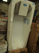 Roca Body Plus 1700 x 750 bath, new and packaged. Includes feet if necessary