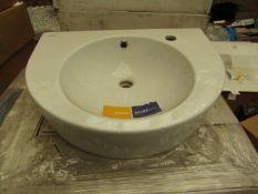 Cersanit Nano 550mm 1TH basin, new and boxed.