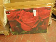 1 x Box of 2 per box Valentine Roses Prints - 80 x 60cm - New & Boxed.