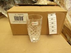 12 x Alpina Crystaline - 320ML Glass Tumblers - New & Boxed. see image for design
