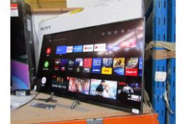 """SONY KD49XH8196BU 49"""" 4k Ultra HD TV, Tested working as in it comes on and displays a picture, we"""