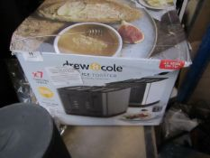   1X   DREW & COLE 4 SLICE TOASTER WITH DUAL CONTROL   LOOKS NEW ( NO GUARANTEE ) & BOXED BUT DAM,