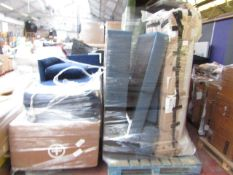 | 3X | PALLETS OF MADE.COM SOFA PARTS STOCK UNMANIFESTED | please note all items and packaging