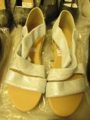 1 x JD Williams Soft Strap Silver Espadrilles size 4 new see image for style
