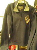 1 x Regatta Quarter Zip Ashville Navy Smoke Fleece size XS new with tag