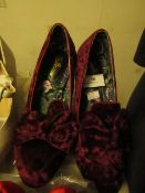 1 x JD Williams Joe Browns Burgandy Court Shoes size 4 new see image for style