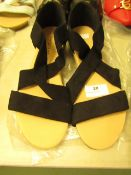 1 x JD Williams Soft Strap Black Espadrilles size 4 new see image for style