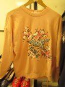 1 x House Ladies Peach Embroidered Sweat Jumper new