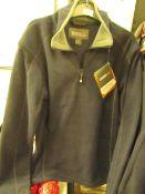 1 x Regatta Quarter Zip Ashville Navy Smoke Fleece size XS new no tag