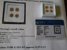 IGL&I certified - Natural Yellow Sapphires (unheated) - 3.24 carats - 28 pieces - average retail