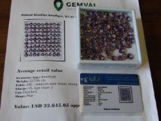 IGL&I certified - Natural Brazilian Amethyst - *Huge* 127.85 carats - 81 pieces - average retail