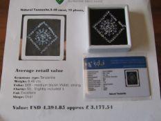 IGL&I Certified - Natural Tanzanite - 8.40 carats - 75 pieces - Average retail value £3,177.54 IGL&I