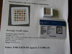 IGL&I certified - Natural Sapphires - 3.05 carats - 25 pieces - Average retail Value £2,082.16 IGL&I