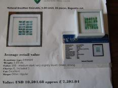 IGL&I certified - Natural Brazilian Emeralds - 5.00 carats - 24 pieces - average retail value £7,
