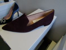 L.K.Bennett Arie Burgundy Suede shoes, size EU42, unused and boxed. RRP £150