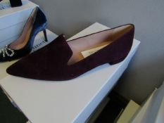 L.K.Bennett Arie Burgundy Suede shoes, size EU38, unused and boxed. RRP £150