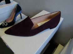 L.K.Bennett Arie Burgundy Suede shoes, size EU36, unused and boxed. RRP £150