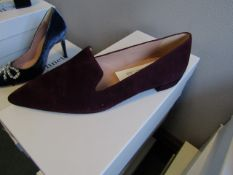 L.K.Bennett Arie Burgundy Suede shoes, size EU39, unused and boxed. RRP £150