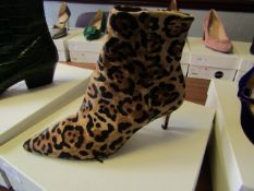 L.K.Bennett Tamara Natural Leopard Calfhair shoes, size EU37, unused and boxed. RRP £350