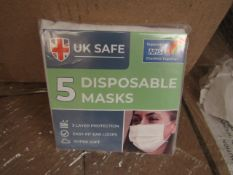 20 x Packs of 5 per pack (100 in total) Uk Safe - 3 Layer Protection Soft Easy Fit Loops