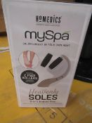 6 x Homedics - My Spa Heavenly soles 2 in 1 instant Pedi - Unused & Boxed.