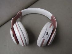 Wireless Rose Gold & White Headphones Unchecked & Boxed