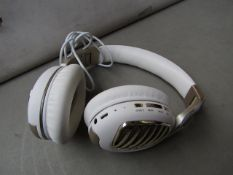Wireless Gold & White Headphones #WB5 Unchecked & Boxed