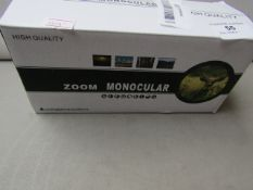 High Quality Zoom Monocular Unchecked & Boxed