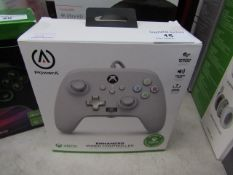 PowerA Enhanced White Xbox Wired Controller Unchecked & Boxed