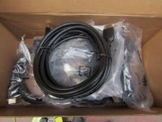 Box of Approx 8 HDMI Cords all Unchecked & Boxed