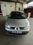 06 Plate Renault Megane Scenic 1.9 diesel, 7 Seats, 2 Keys, 82,793 miles appears to match up with