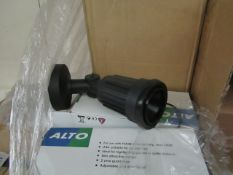 6x Alto - Outdoor IP44 Wall mounted Spot Light Suitable for Highlighting  Garden, Patio, etc