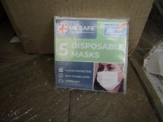 20x Packs of 5 per pack (100 in total) Uk Safe - 3 Layer Protection Soft Easy Fit Loops Disposable