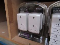 GlobalGuard Plug in Socket Twin Pack compatable with Global Alarm systems new & packaged
