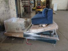 | 3X | PALLETS OF FAULTY / MISSING PARTS / DAMAGED CUSTOMER RETURNS MADE.COM STOCK UNMANIFESTED SOFA