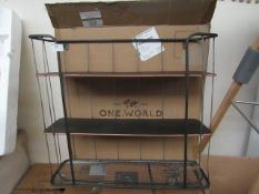   1X   COX & COX INDUSTRIAL SHELF WITH HOOKS - LARGE   LOOKS UNUSED & BOXED   RRP £85  