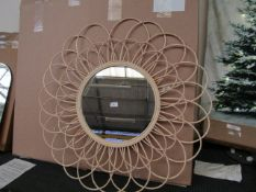   1x   COX & COX WALL MIRROR   LOOKS IN GOOD CONDITION BUT HAS A BROKEN STRAND AND BOXED   RRP £-  
