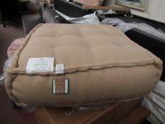   1x   MADE.COM LARGE FLOOR CUSHION OATMEAL COTTON SLUB   UNCHECKED & BOXED   RRP £149  