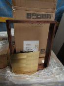   1x   SWOON CADREW WALL LAMP IN WALNUT   LOOKS UNUSED (NO GUARANTEE)   RRP CIRCA £114.99  