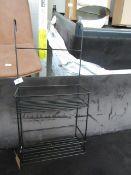   1X   MADE.COM ESSENTIALS CALYPSO METAL SHOWER CADDY, BLACK   LOOKS UNUSED & BOXED   RRP £29  