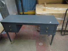   1X   COX AND COX 4 DRAWER DESK   HAS SOME OF THE WOOD CHIPPED AT THE FRONT   RRP CIRCA £378  