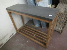   1X   COX & COX CHILTON CONSOLE TABLE   CRACK ON CORNERS   UNBOXED   RRP £275  