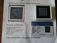 IGL&I Certified - Natural Tanzanite - 12.60 carats - 88 pieces - Average retail value £2,930.00