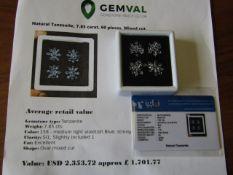 IGL&I certified - Natural Tanzanite - 7.85 carats - 60 pieces - Average retail value £ 1,701.77