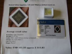 IGL&I certified - Natural Yellow Sapphires - 1.20 carats - 100 pieces - average retail value £311.85