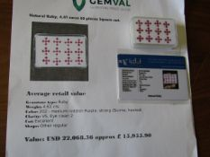 IGL&I certified - Natural Rubies - 4.61 carats - 60 pieces - Average retail value £15,955.90 IGL&I