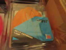 5x ClubFit - Orange Jelly Expender Loop - New & Packaged.