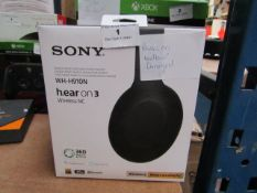 Sony Wireless Noise Cancelling Headphones WH-H910N 360 Reality Audio + Alexa Built in, powers on but