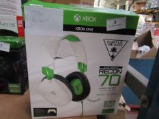 Turtle Beach white Ear Force Recon 70 compatable with xbox 1 tested working for sound & Boxed
