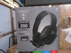 Turtle Beach Recon 200 headphones, unchecked and boxed.